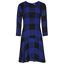 Buy Reiss Silk Kayleigh Printed Flippy Dress, Blue Abyss Online at johnlewis.com