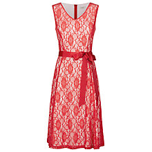 Buy Kaliko Contrast Lining Dress, Bright Red Online at johnlewis.com