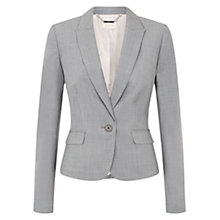 Buy Hobbs Edith Jacket, Light Grey Online at johnlewis.com
