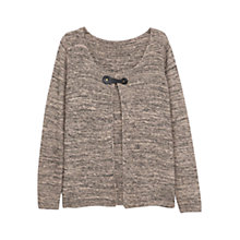 Buy Violeta by Mango Metallic Cotton Cardi, Light Pastel Brown Online at johnlewis.com