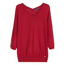 Buy Violeta by Mango Silk Sweater, Medium Red Online at johnlewis.com