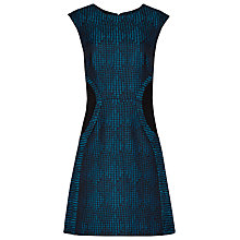 Buy Reiss Kori Textured Fit And Flare Dress, Multi Blue Online at johnlewis.com