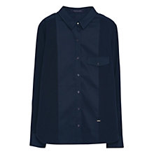 Buy Violeta by Mango Contrast Panel Shirt, Navy Online at johnlewis.com