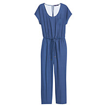 Buy Violeta by Mango Mosaic Print Jumpsuit, Navy Online at johnlewis.com