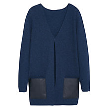 Buy Violeta by Mango Side Pocket Cardigan, Navy Online at johnlewis.com