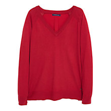Buy Violeta by Mango Fine-Knit Cotton Jumper, Medium Red Online at johnlewis.com