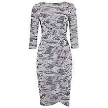 Buy French Connection Stable Jacquard Dress, Otter Online at johnlewis.com