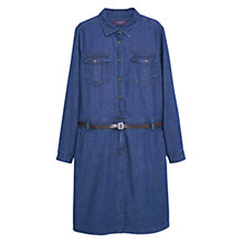 Buy Violeta by Mango Open Denim Shirt Dress, Blue Online at johnlewis.com
