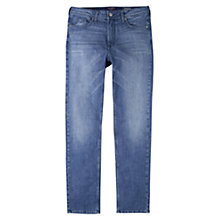 Buy Violeta by Mango Straight Theresa Jeans, Medium Blue Online at johnlewis.com