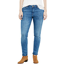 Buy Violeta by Mango Alexandra Slim-Fit Jeans, Open Blue Online at johnlewis.com