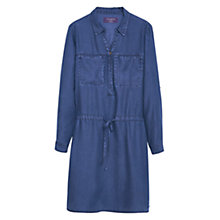 Buy Violeta by Mango Denim Shirt Dress, Open Blue Online at johnlewis.com