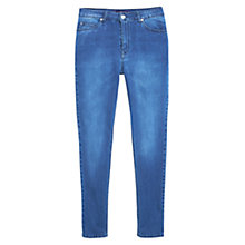 Buy Violeta by Mango Super Slim-Fit Silvia Jeans, Open Blue Online at johnlewis.com