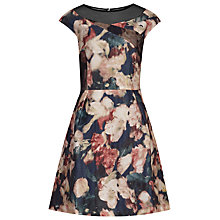 Buy Reiss Wynne Printed Fit And Flare Dress, Night Navy Online at johnlewis.com