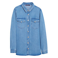 Buy Violeta by Mango Camisa Denim Shirt, Open Blue Online at johnlewis.com