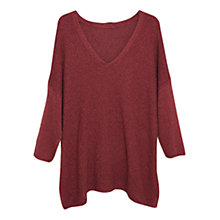 Buy Violeta by Mango Oversize Jumper, Red Online at johnlewis.com