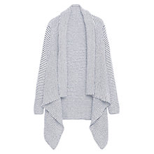 Buy Violeta by Mango Waterfall Cardigan, Navy Online at johnlewis.com