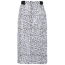 Buy French Connection Sequin Skirt, White/Black Online at johnlewis.com