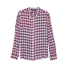 Buy Violeta by Mango Textured Check Shirt, Red Online at johnlewis.com