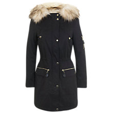 Buy Miss Selfridge Parka, Navy Online at johnlewis.com