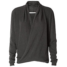 Buy Max Studio Drape Front Jumper, Heather Charcoal Online at johnlewis.com