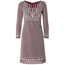 Buy Max Studio Deco Devore Dress, Light Grey/Oxblood Online at johnlewis.com