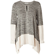 Buy Max Studio Colour Block Top, Grey/Ivory Online at johnlewis.com
