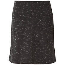 Buy Max Studio Space Dyed Ponte A Line Skirt, Black/Off White Online at johnlewis.com