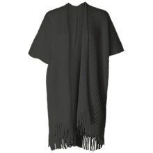 Buy Max Studio Short Sleeve Fringe Hem Cardigan, Heather Charcoal Online at johnlewis.com