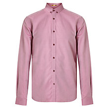 Buy Kin by John Lewis Diamond Dobby Shirt, Red Online at johnlewis.com
