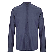 Buy Kin by John Lewis Chambray Mandarin Collar Shirt, Navy Online at johnlewis.com