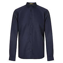 Buy Kin by John Lewis Pin Dot Spread Collar Shirt, Navy Online at johnlewis.com