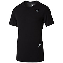 Buy Puma Fitted Running Top, Black Online at johnlewis.com