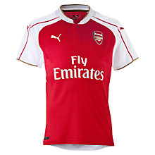 Buy Puma Children's Arsenal F.C. 2015/16 Home Football Shirt, Red/White Online at johnlewis.com
