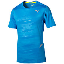 Buy Puma Short Sleeve Running Top, Blue Online at johnlewis.com