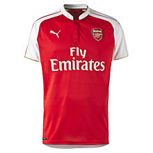 Buy Puma 2015/16 Arsenal Home Football Shirt, Red/White Online at johnlewis.com