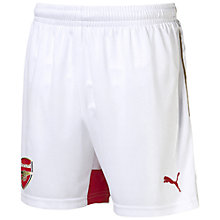 Buy Puma Children's Arsenal F.C. 2015/16 Home Football Shorts, White Online at johnlewis.com