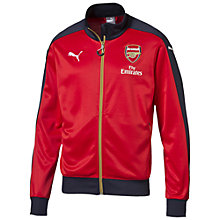 Buy Puma Boys' Arsenal Football Club Training Jacket, Red Online at johnlewis.com