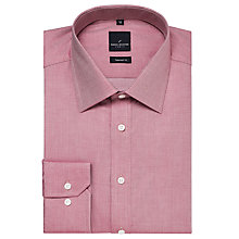 Buy Daniel Hechter Diamond Jacquard Tailored Shirt, Pink Online at johnlewis.com