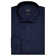 Buy Daniel Hechter Semi Plain Tailored Fit Shirt, Indigo Online at johnlewis.com
