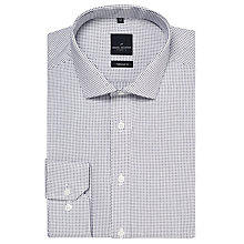 Buy Daniel Hechter Woven Square Print Cotton Dobby Shirt, White/Navy Online at johnlewis.com