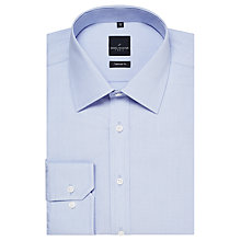 Buy Daniel Hechter End On End Tonal Dot Shirt, Light Blue Online at johnlewis.com
