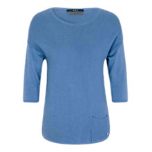 Buy Oui Fine Knit Top, Light Blue Online at johnlewis.com