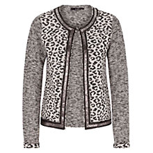 Buy Oui Knitted Cardigan, Grey/Black Online at johnlewis.com