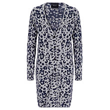 Buy Oui Leopard Cardigan, Light Blue/Grey Online at johnlewis.com