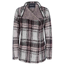Buy Oui Checked Shrug Cardigan, Grey/Rose Online at johnlewis.com