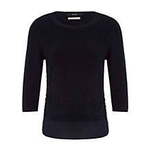 Buy Oui Pullover Jumper, Dark Navy Online at johnlewis.com