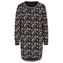 Buy Oui Printed Tunic, Black/White Online at johnlewis.com