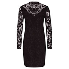 Buy Oui Lace Overlay Pencil Dress, Black Online at johnlewis.com