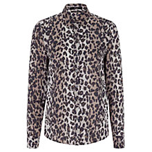 Buy Oui Leopard Print Shirt, Taupe Online at johnlewis.com