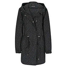 Buy Oui Leopard Parka Jacket, Black Leopard Online at johnlewis.com